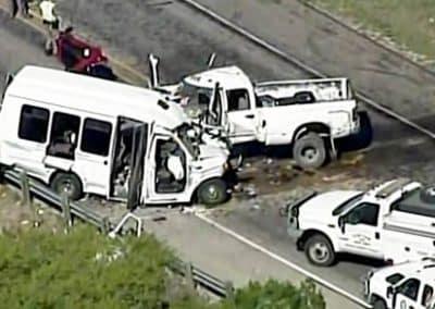 Σύγκρουση φορτηγών οχημάτων μεταξύ τους